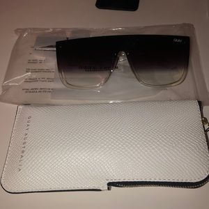 What Sunglasses with case and tag. Never worn.